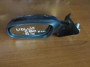 Volvo S80 1999-2006 ηλεκτρικός καθρέπτης αριστερός σκούρο μπλέ (8 καλώδια)