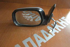 Toyota Corolla Verso 2002-2004 ηλεκτρικός καθρέπτης αριστερός ασημί