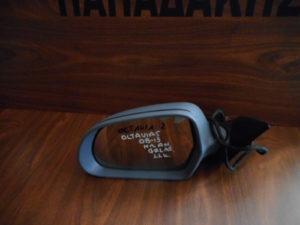 Skoda Octavia 5 2008-2013 αριστερός καθρέπτης ηλεκτρικά ανακλινόμενος γκρι 11 καλώδια φως ασφαλείας