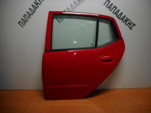 Hyundai i10 2008-2014 πίσω αριστερή πόρτα κόκκινη